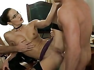 double penetration blowjob pornstar